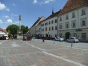 Bad Radkersburg. Hauptplatz mit Stadtturm.