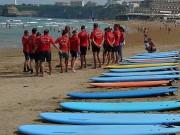 Surftraining am Strand von Biarritz. (Foto: Sudy)