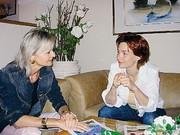 Hedi Grager beim Interview mit Aglaia Szyszkowitz. (Foto: Sudy)