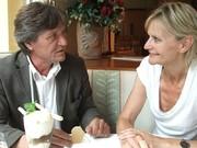Roland Berger und Hedi Grager beim Interview. (Foto:Sudy)