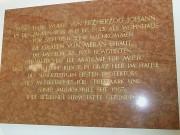 Gedenktafel im Foyer des Palais Meran. (Foto: Sudy)