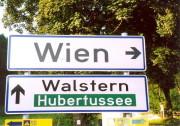 Wegweiser an der Straße zwischen Halltal und Mariazell. (Foto: Sudy)