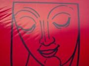 Face-Symbol. Tolle Location in Shanghai. (Foto: Sudy)
