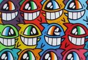 Keep Smiling 2013 von El Pevonz. (Courtesy: GALERIE HILGER NEXT Wien 10 & the artist