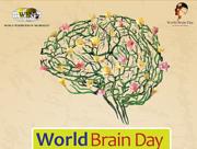 Ausschnitt aus dem Poster des World Brain Day 2014.