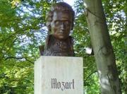 Mozart-Büste im Grazer Stadtpark.  © Reinhard A. Sudy