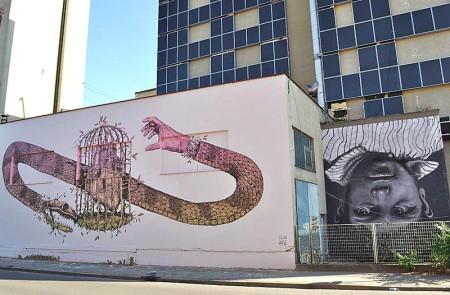 Graffiti-Welt in der Grazer Puchstraße, Österreich. © Reinhard A.