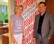 Hedi Grager und Mag. Michael Friedl in seinem New Yorker Büro. Foto Nadine Marie Wohlmuth