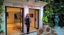 Hedi Grager im Hotel Byblos. © 2016 Reinhard A. Sudy