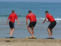 Am Strand von Biarritz, Sommer 2007.