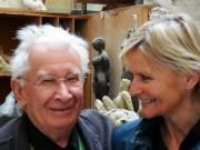 Josef Pillhofer und Hedi Grager 2008 im Wiener Staatsatelier. (Foto: Sudy)