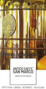 Titelseite-Ausschnitt eines Folders des Antico Caffee San Marco, 2017.