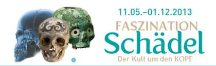 Auszug aus dem Header der Website www.faszination-schaedel.at.