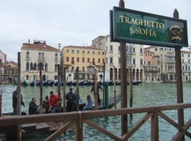 Traghetto-Haltestelle in Venedig. Foto: Sudy