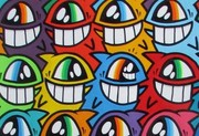 Keep Smiling 2013 von El Pevonz. (Courtesy: GALERIE HILGER NEXT Wien 10 & the artist