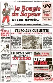 """Titelseite des """"la Bougie du Sapeur"""" vom 29. Februar 2012."""