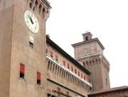 Die mächtige Wasserburg Castello Estense. (Foto:Sudy)