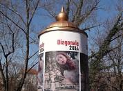 Diagonale-Werbeplakat. © Sudy