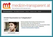 Ausschnitt aus der Website. © medizin-transparent.at