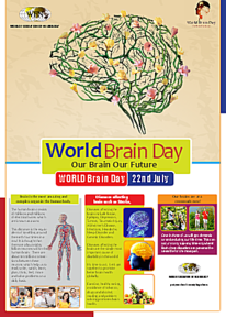 Poster des World Brain Day 2014.