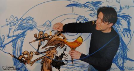 Bildausschnitt aus der Ausstellung mit Florian Satzinger. Foto: Reinhard A. Sudy