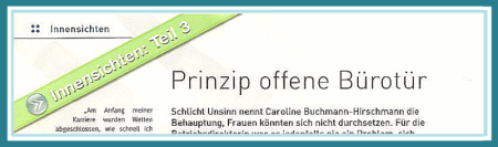"""Ausschnitt einer """"Innensichten""""-Seite der ÖKZ."""