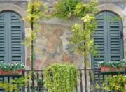 Fresken an der Fassade der Case Mazzanti. © Sudy