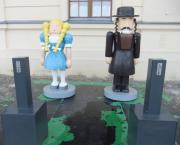 """Lego-Figuren vor dem Jüdischen Museum (2012). © Reinhard A. Sudy"