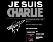 Website-Ausschnitt. www.charliehebdo.fr