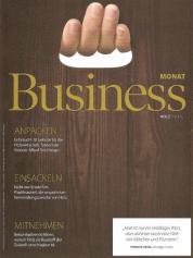 Business Monat Holzspecial. Cover Jänner 2019