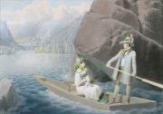 Bild von Matthäus Loder: Erzherzog Johann und Anna Plochl im Boot (I.), um 1824/25. Privatbesitz