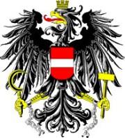 Österreichs Bundeswappen mit Adler.