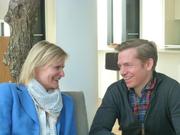 Hedi Grager im Gespräch mit Georg Öhler. © 2014 Reinhard A. Sudy