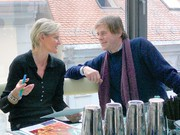 Hedi Grager im Interview mit Burkhard Stulecker. (Foto: Patrick Kovacs)