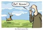 Aus 'Cartoons über Hunde': dotkomm. © Dorthe Landschulz