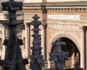 Fotoausstellung Give Me Yesterday im Milano Osservatorio in der Galleria Vittorio Emanuele II. Blick von der Domterrasse. © 2013 Reinhard A. Sudy