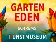 Ausstellungsplakat. Jahresausstellung 2017 Garten Eden / Das Kunstmuseum Waldviertel. Fotocredit: IDEA
