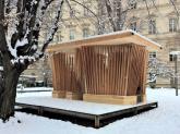 Holzpavillon Twist am Campus Alte Technik der TU Graz. © 2018 Reinhard A. Sudy