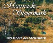 Buchcover 'Moorreiche Steiermark' mit dem 'Dürnberger Moor im Herbst'.
