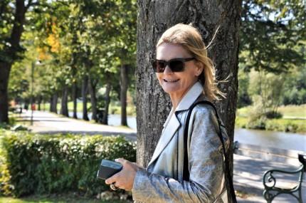 Hedi Grager unterwegs in Venedig. Foto: 2019 Reinhard A. Sudy