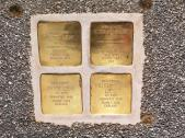 Vier Stolpersteine zur Erinnerung an die Familie Loewi, Graz. © 2019 Reinhard A. Sudy