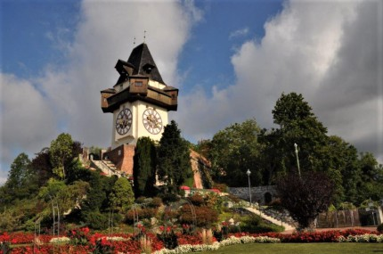 Der Grazer Uhrturm am Schloßberg. © 2019 Reinhard A. Sudy