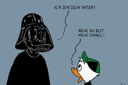 Cartoon Duck Vader © Daniel Jokesch