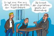 Cartoon Gravitationsgesetz © Rene Lehner