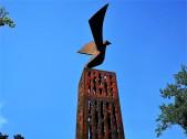 Adler des Freiheitsdenkmals im Grazer Burggarten. © 2020 Reinhard A. Sudy