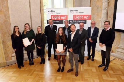 Gruppenbild Preisträger Auslober Jury © proholz Austria Redtenbacher