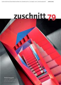 Zuschnitt-Cover-Foto: Treppe im Londoner Donmar Theaterbüro. © Zuschnitt | proHolz Austria