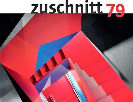 Cover-Ausschnitt mir der Treppe im Londoner  Donmar Theaterbüro. © Zuschnitt | proHolz Austria