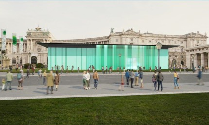 Rendering mobiler Pavillon am Wiener Heldenplatz, 2020, KADADESIGN / Bildermehr
