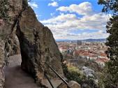 Blick auf Graz vom Jubiläums-Felsensteig des Schlossbergs. © 2021 Reinhard A. Sudy